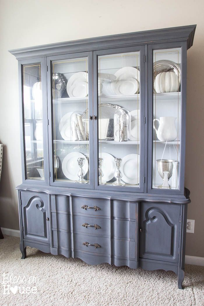 French Provincial China Cabinet Makeover In 2 Easy Steps Deglosser And Fusion Paint No Sanding Or Waxing