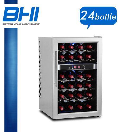 "Dual Temperature Zone Wine Refrigerator Cooler 24 BTL 65D Compact Chiller Fridge ItemNo: 65DD. Condition:BrandNew. PowerRating: 110V/60Hz. ProductDimensions:17.8""(width) X 20.7""(depth) X 28.8""(height). InternalDimensions:14.6""(width) X 13""(depth) X 25.2""(height)."