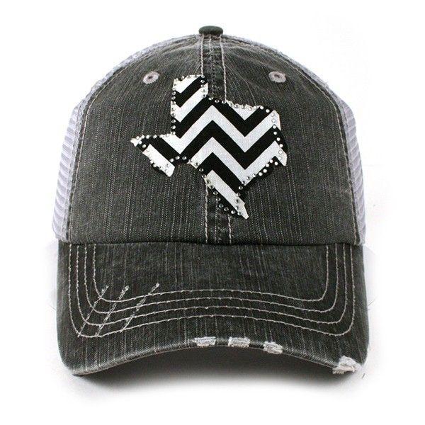 Simply Devine Boutique -  TEXAS CHEVRON BLACK TRUCKER  HAT, $19.99 (http://www.simplydevineboutique.com/products/texas-chevron-black-trucker-hat.html)
