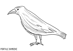 Raven Coloring Pages Online Free To Print Portale Bambini Printables Coloringpages Coloringinspiration Coloring Ravens Disegni A Mano Disegni Bambini