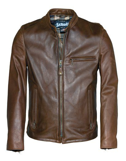 d5a8ba9afea Waxed Natural Pebbled Cowhide Café Leather Jacket in 2018