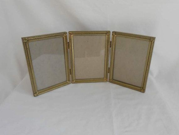 Vintage Metalcraft 5x7 Hinged 3 Way Frame Back To School Etsy Vintage Photo Frames 5x7 Frames Vintage