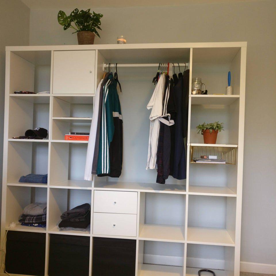 reddit  ikeahacks  minimalist kallax wardrobe  ikea