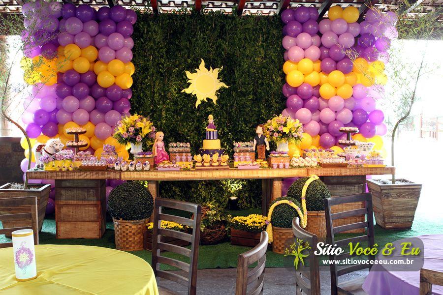 TEMA ENROLADOS. Confira mais em http://www.sitiovoceeeu.com.br/festainfantil.html