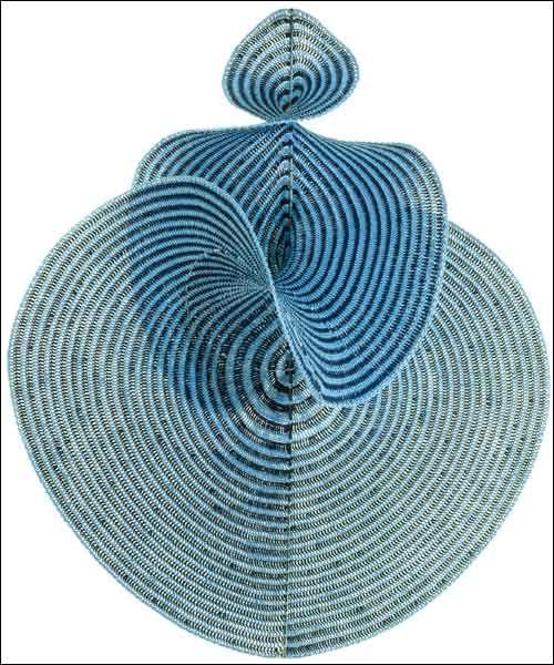 Crocheting The Lorenz Manifold | Textildesign, Häckeln und Blau