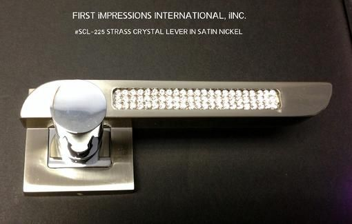 WE OFFER A LINE OF STRASS CRYSTAL LEVER SETS IN ALL FINISHES