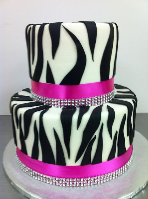 Zebra Diamonds Cake By Dpasteles Shop San Antonio TX