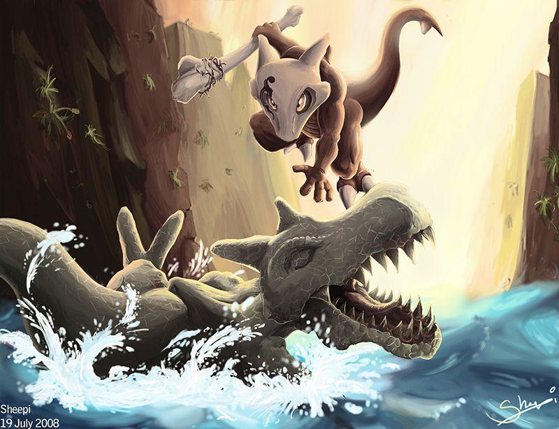 Marowak vs Aerodactyl by xSheepi | Pokemon ...