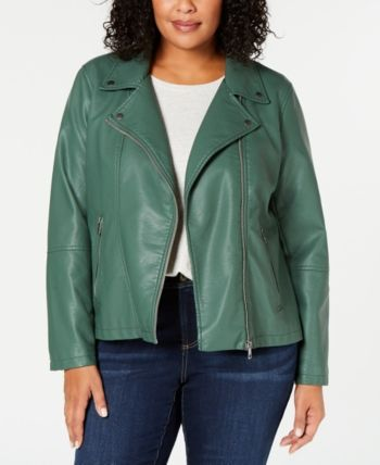 02a201268a3 Style   Co Plus Size Faux-Leather Moto Jacket