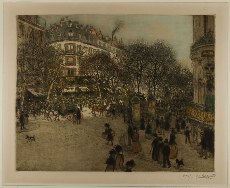 Paris Street Scene  Raffaëlli
