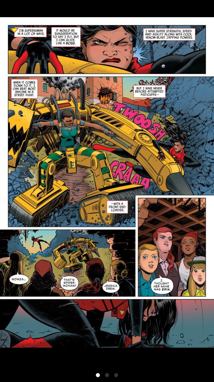 Jessica drew fight scene spider woman comics digital comic