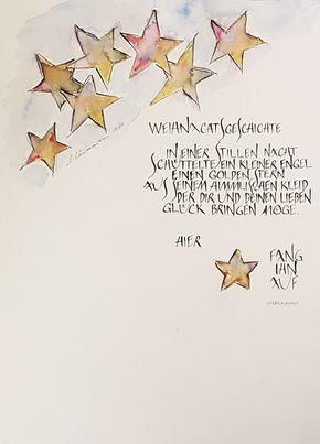 Kalligraphie Kalligrafie Kurs Auftrag Event Schweiz Business Privat Weihnachten Zeichnung Gedicht Weihnachten Weihnachten