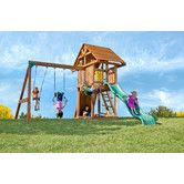 Kids Creations Kids Creation Redwood Circus 3 Swing Set Backyard Playset Swing Sets For Kids Playset