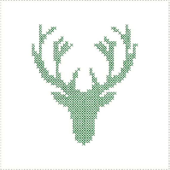 cross stitch deer antlers embroidery machine by. Black Bedroom Furniture Sets. Home Design Ideas