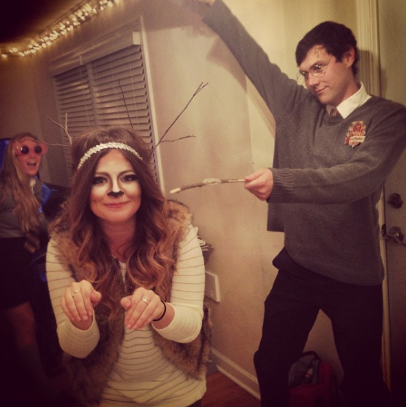 Harry Potter and His Patronus | 26 Couples Costumes That Won't Make You Barf