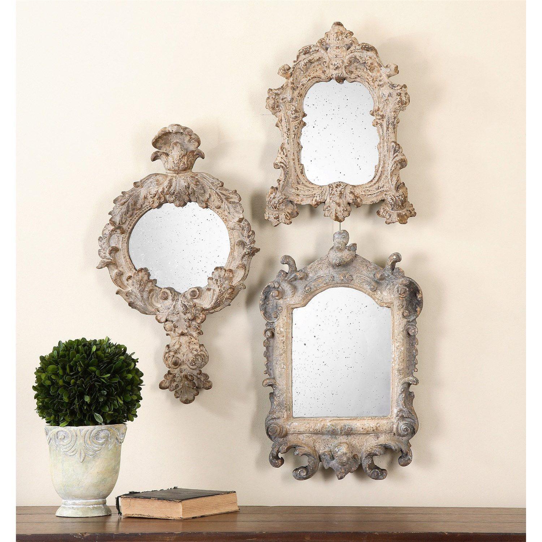 Window mirror decor  uttermost  rustic artifacts reflection mirror  set of
