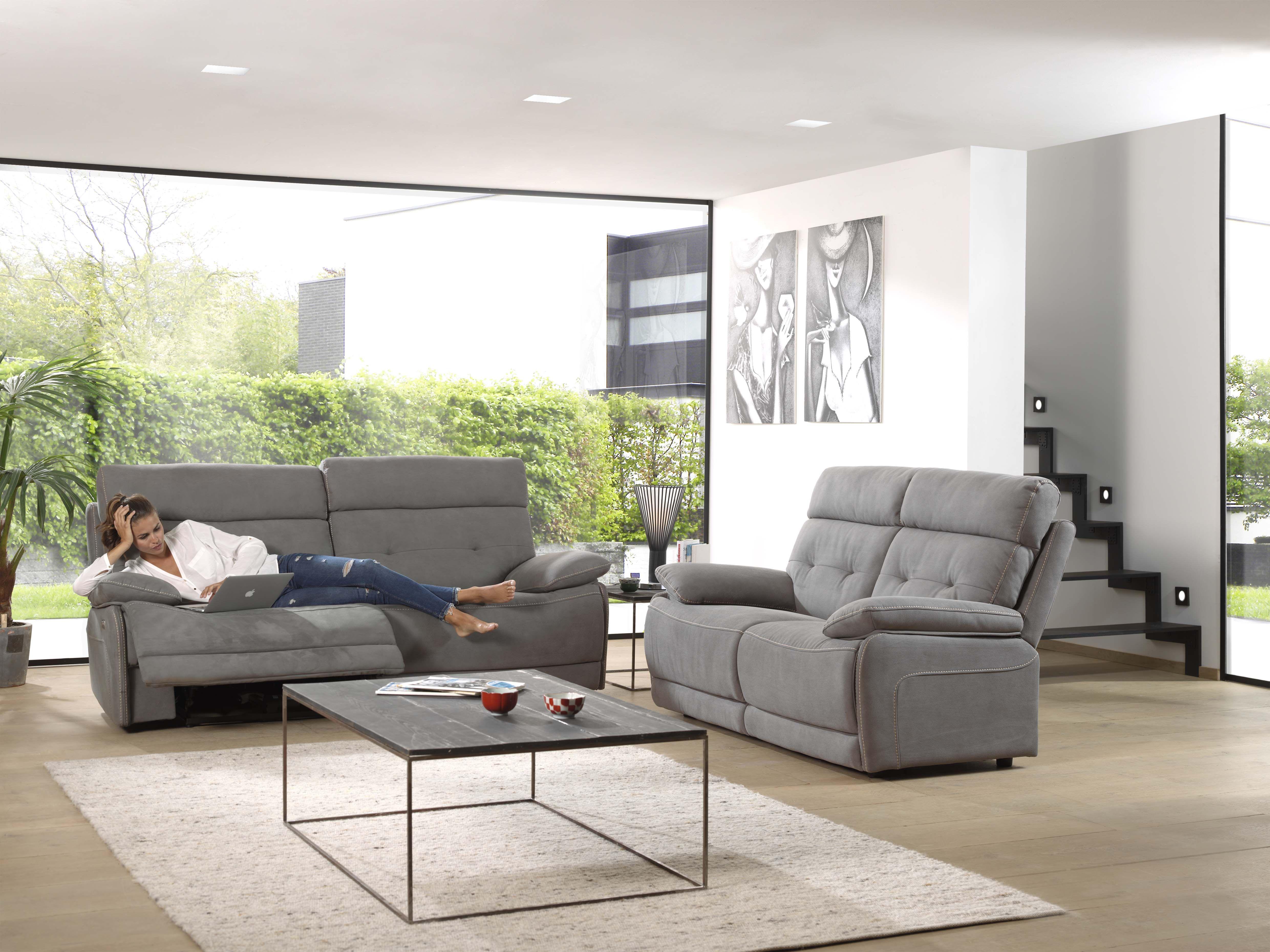 Oscar Fabuleux Salon En Tissu Disponible Avec Relax Electrique Detendez Vous Et Laissez Place Au Bien Etre Relax Meubels Keukens