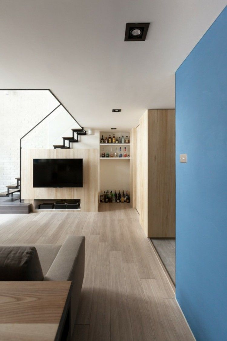 Urban loft bedroom  ideas decoracion de interiores en pintura azules fresco