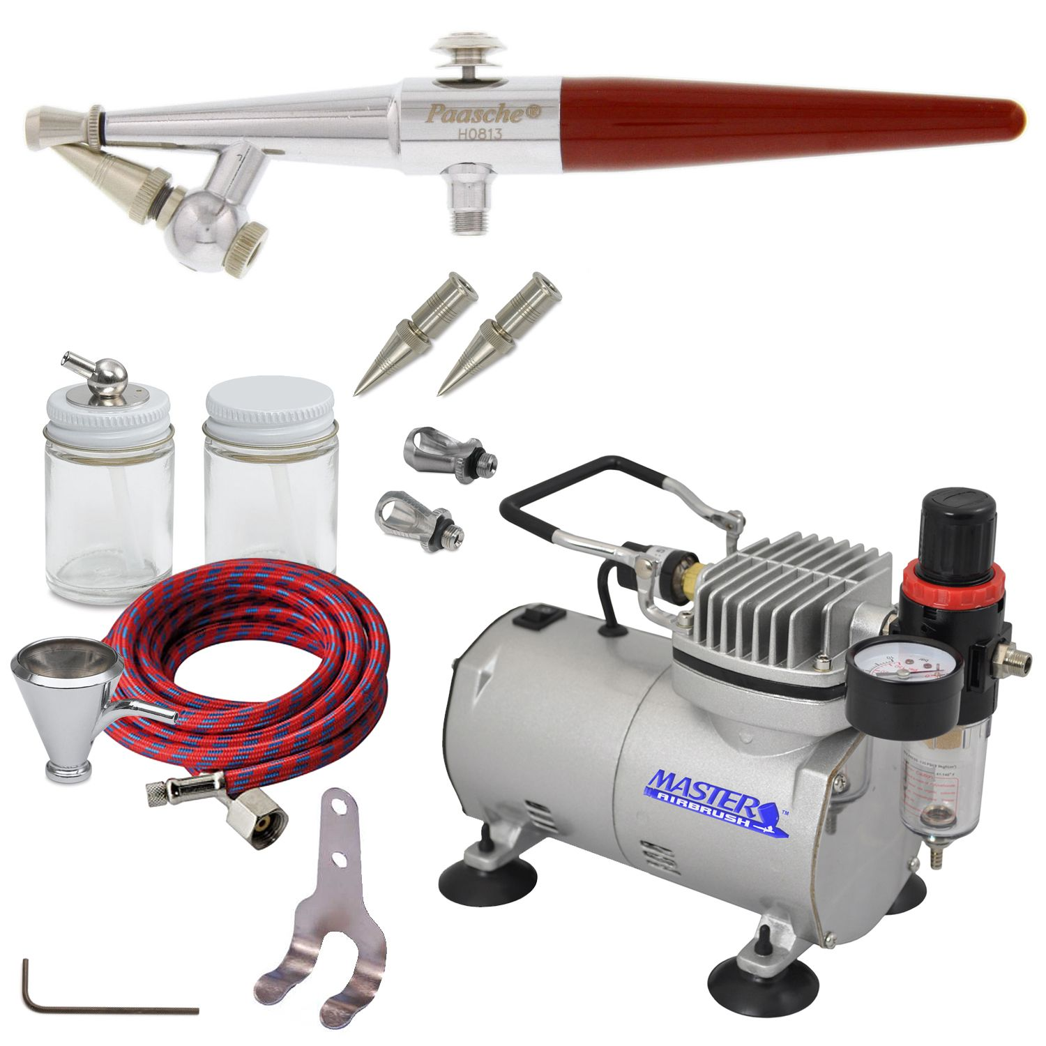 Paasche HSET Airbrush Kit With ABD TC20 Compressor