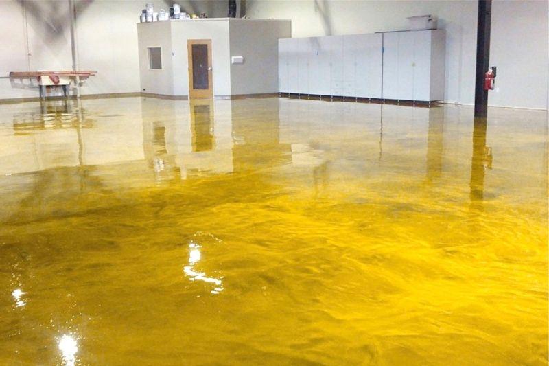 Yellow Gold Epoxidharzboden Inkl Grundierung Epodex Epoxy Resin Flooring Epoxy Floor Designs Epoxy Floor