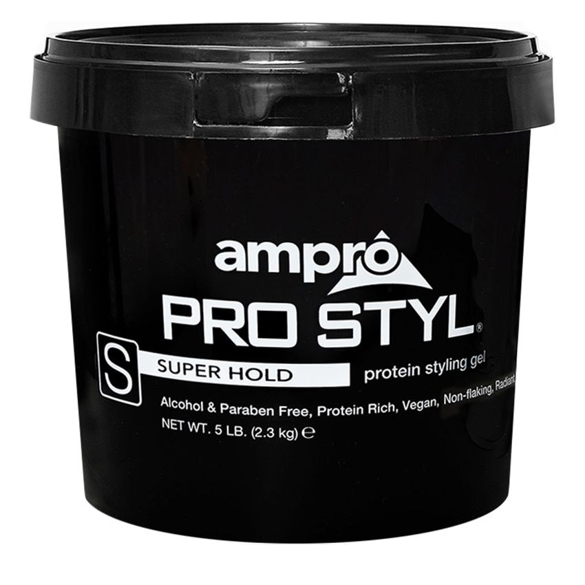 Ampro Pro Styl Protein Styling Gel Super Hold 5 Lb In 2020 Protein Styling Gel Styling Gel Curly Hair Styles