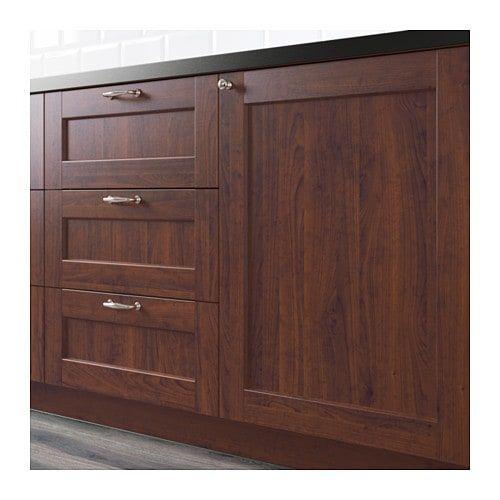 """EDSERUM Door - wood effect brown 15x30 """" (38x76 cm)   Base ..."""