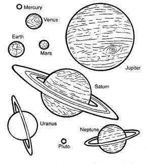 kleurplaat ruimtevaart planeten de ruimte knutselen