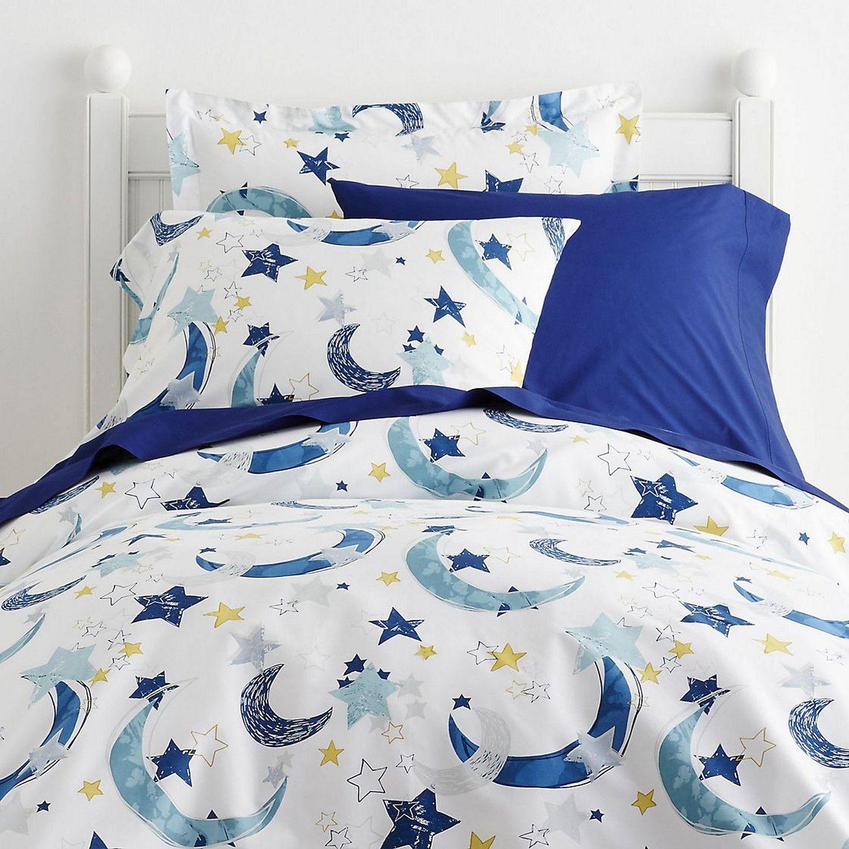 moon stars percale kids sheets bedding set company kids