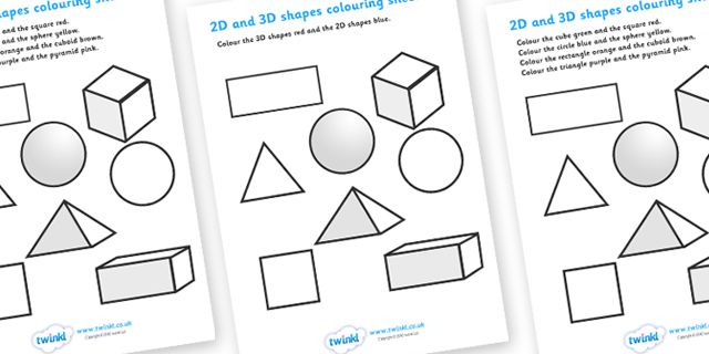 twinkl resources 2d and 3d shapes colouring sheet thousands of printable primary teaching. Black Bedroom Furniture Sets. Home Design Ideas