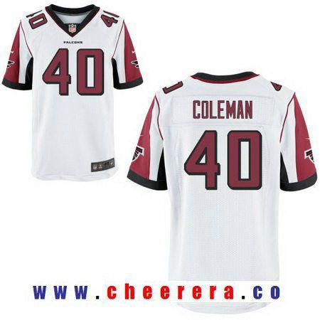 a4d3f746651 Men s Atlanta Falcons  40 Derrick Coleman White Road Stitched NFL Nike  Elite Jersey