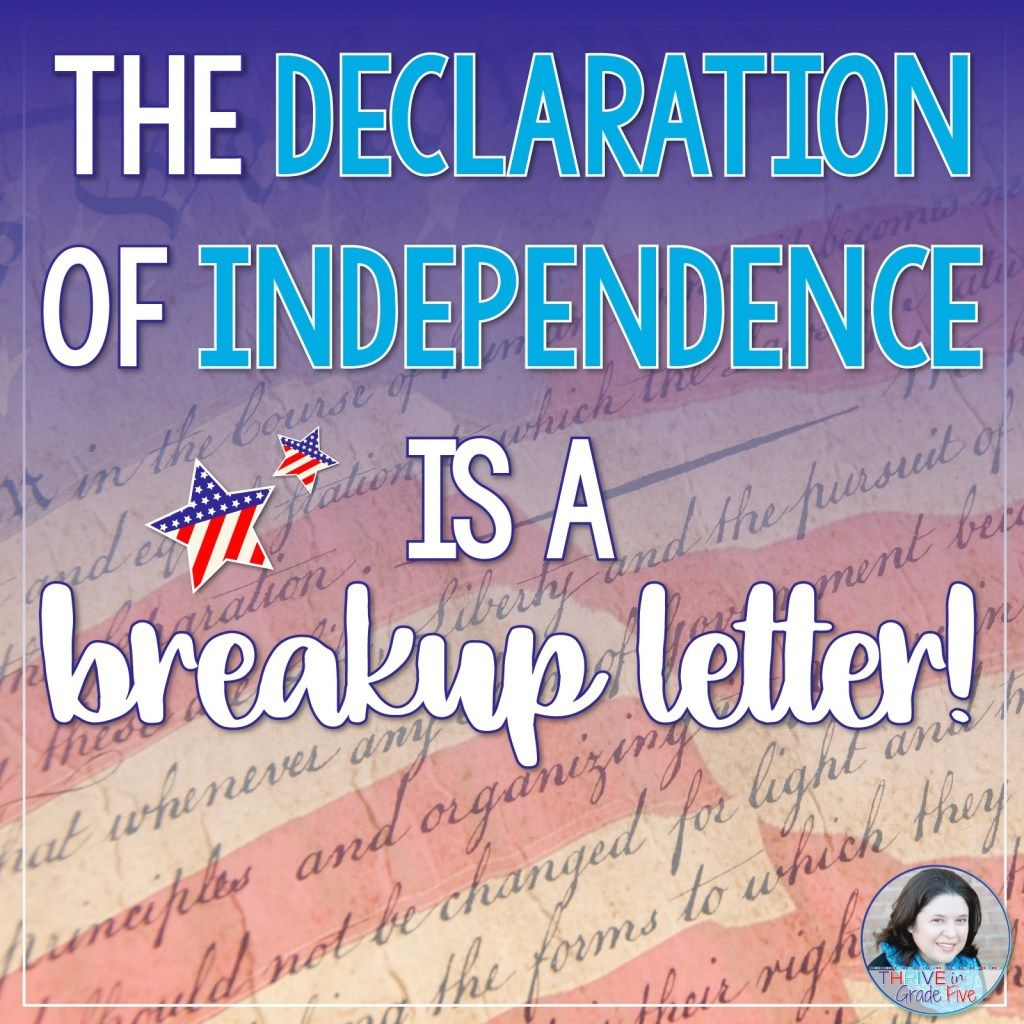 Teach The Declaration Of Independence The Fun Way In