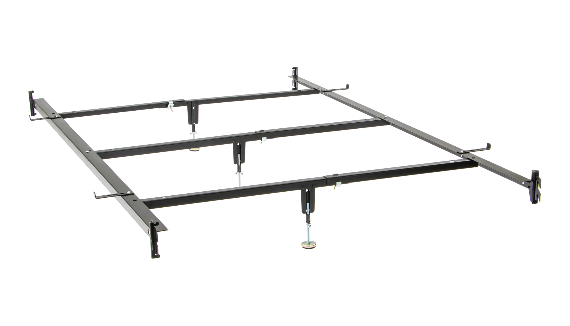 Full To Queen Converter Rails With 3 Supports Bed Frame Rails