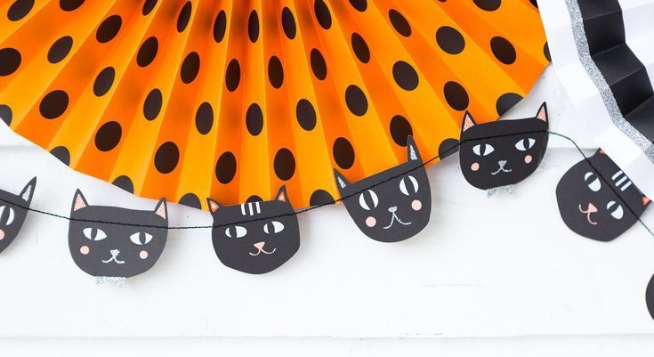 Black Cat Banner, Halloween Black Cat Banner, Halloween Party