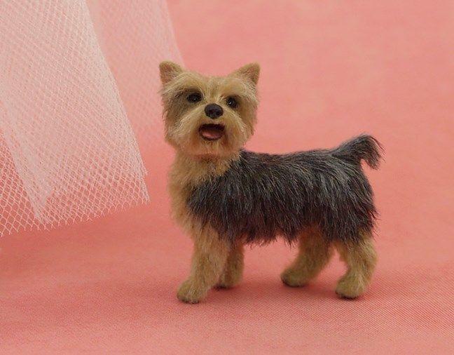 Dollhouse Miniature Yorkie Terrier Dog by Kerri Pajutee *IGMA OOAK   eBay