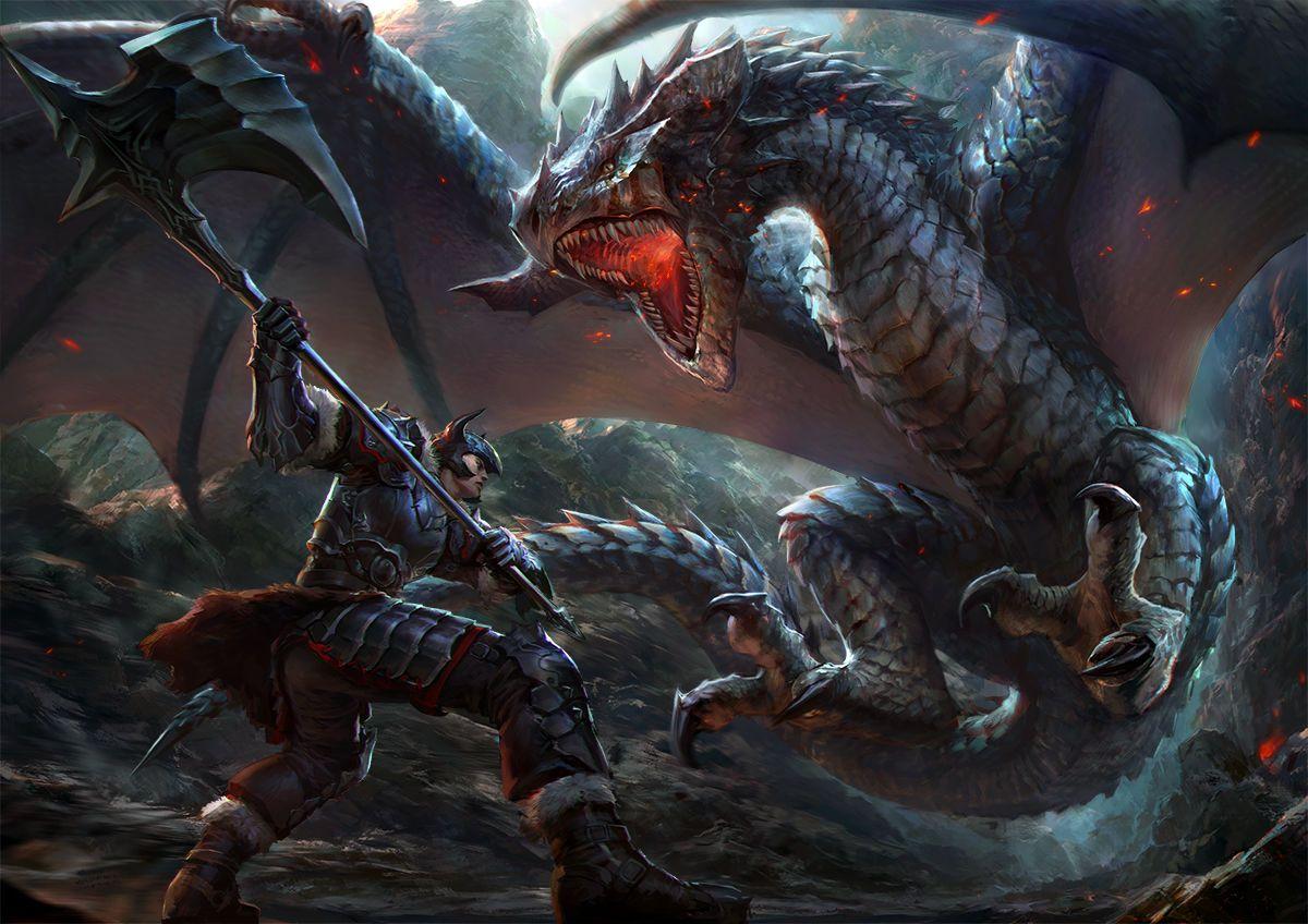 Картинка битва с драконом