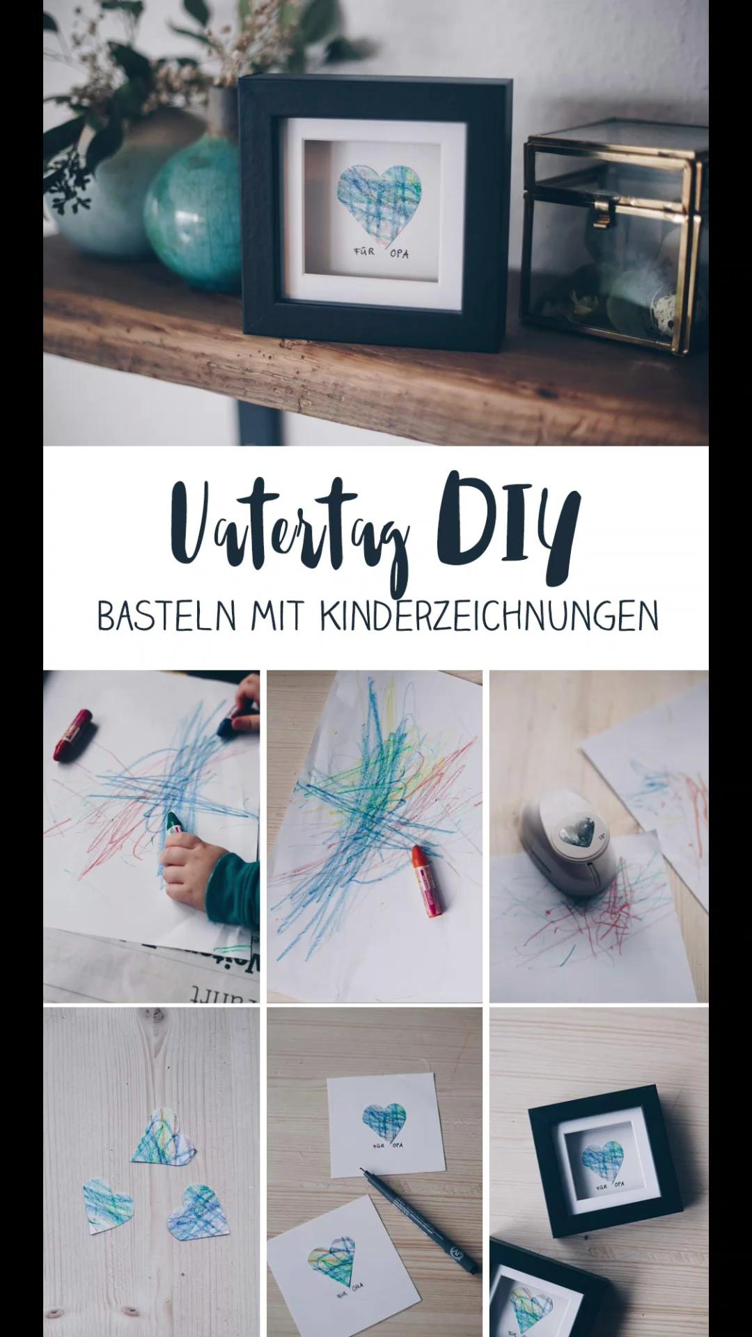 Photo of DIY Video zum Vatertag – Geschenkidee mit Kinderzeichung – Basteln mit Kleinkindern