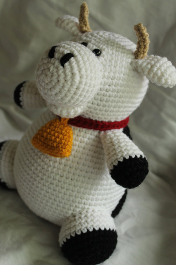 Charlie The Cow Amigurumi Plush Crochet Pattern Only Pdf