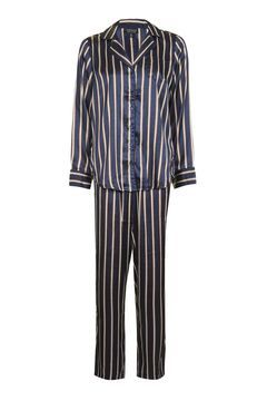 Topshop Satin Stripe Pyjama Set  f3a5c9262