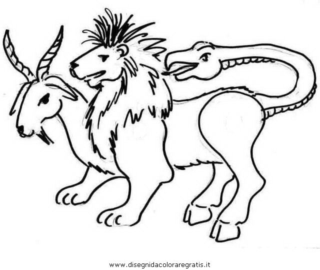Chimera Coloring Pages Coloring Pages Sketches Chimera
