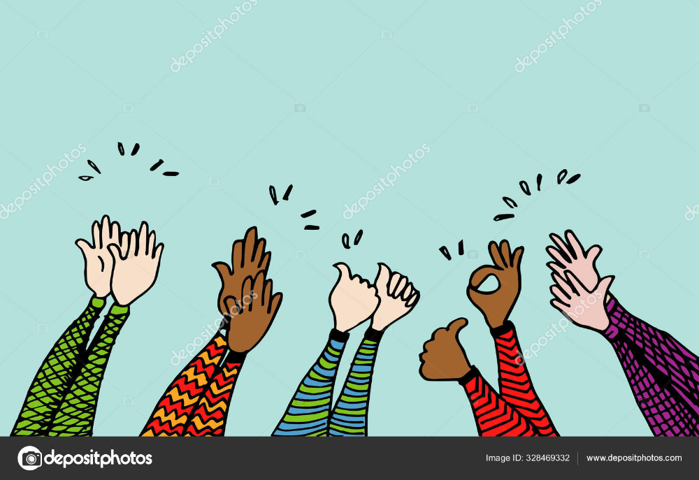 Download Doodle Of Hands Up Hands Clapping Applause Gestures Congratulation Business V Business Vector Illustration Vector Illustration Stock Illustration