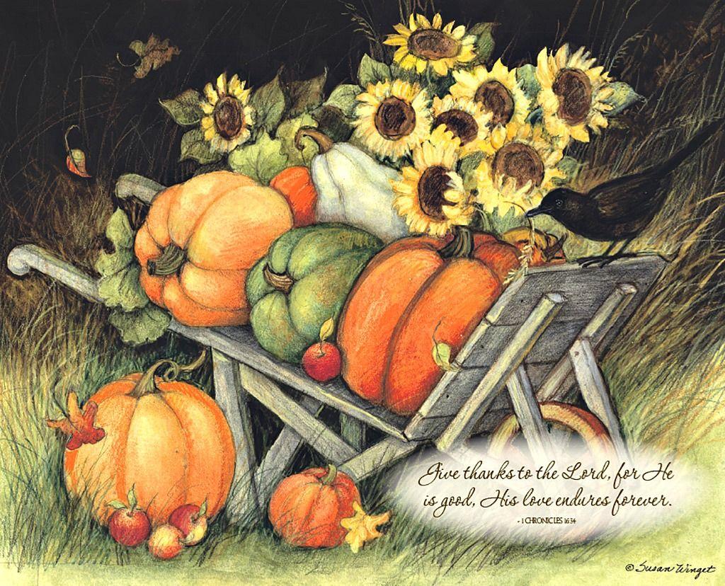 Susan Winget Bountiful Blessings November 2016 Autumn Art Thanksgiving Art Creative Illustration