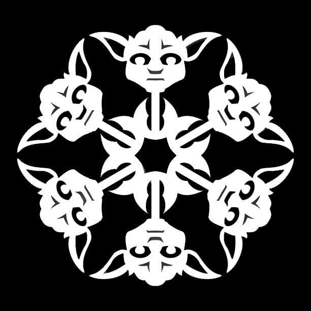Star Wars Yoda Snowflake Cross Stitch Pattern | Cross Stitch | Pinterest