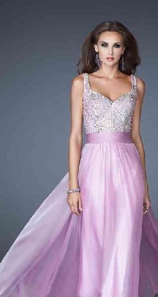 Fashion Long A-Line Sleeveless Chiffon V-neck Evening Dress tkzdresses85415wser ##longdress #promdress