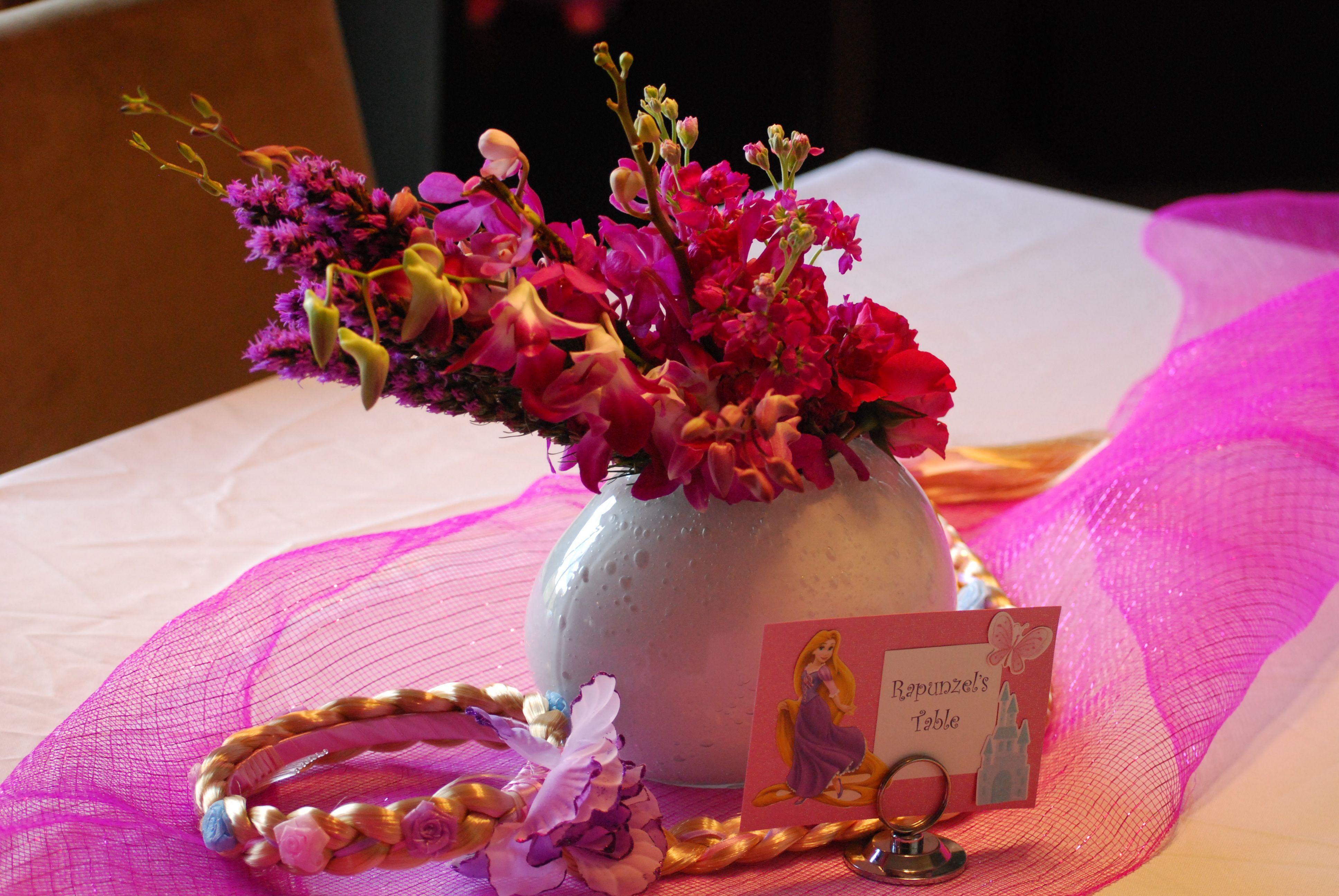 Disney Princess Party Rapunzel Table