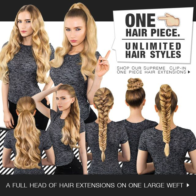 Supreme One Piece Clipin Hairextension From Top To Toe