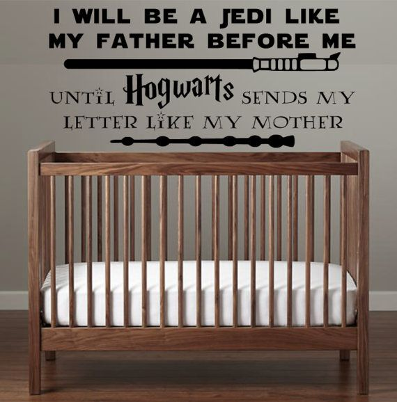 Star Wars Hogwarts Harry Potter Nursery Decal I By Apareciumdesign Harry Potter Nursery Harry Potter Baby Nursery Harry Potter Mom