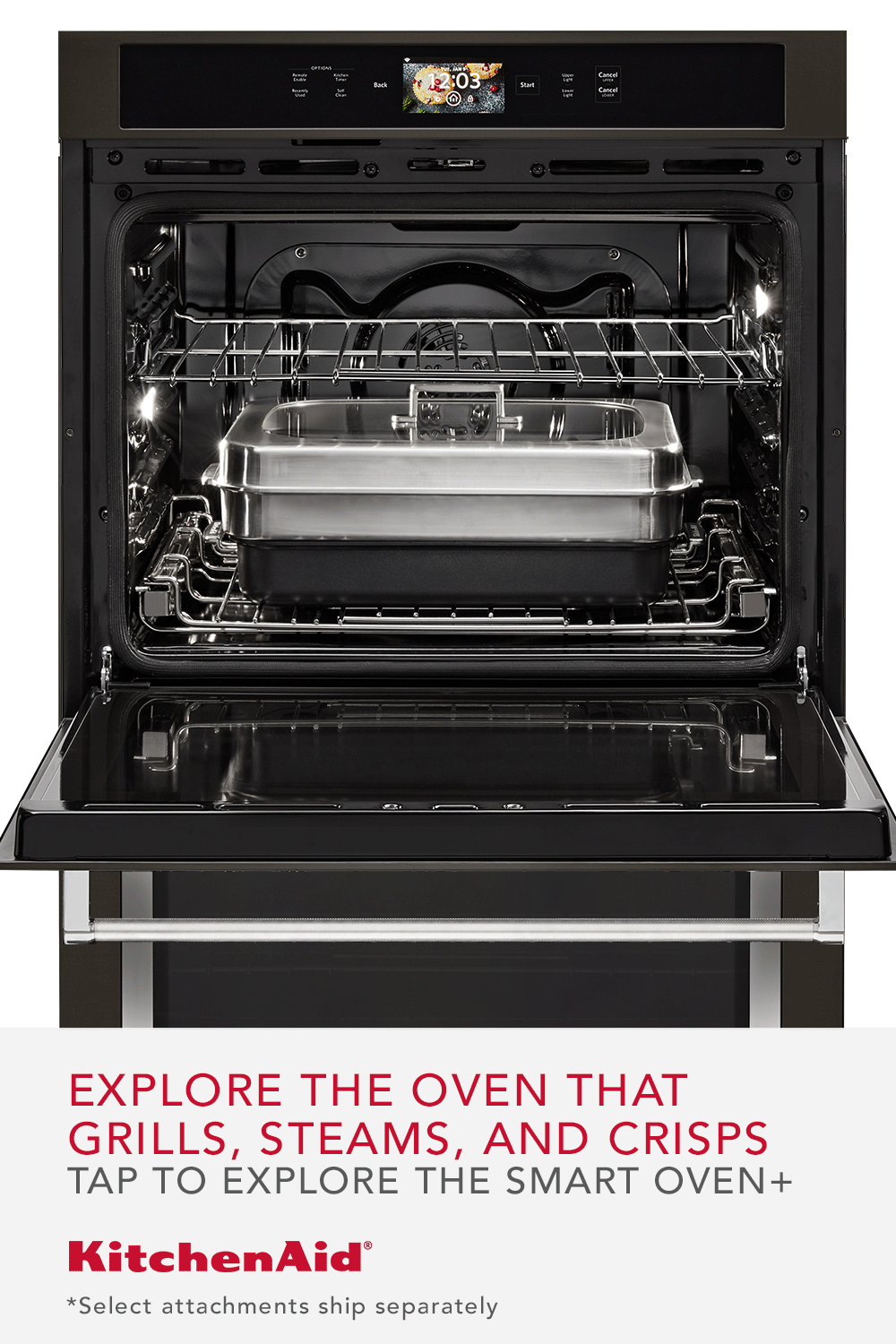 Introducing The Smart Oven With Powered Attachments That
