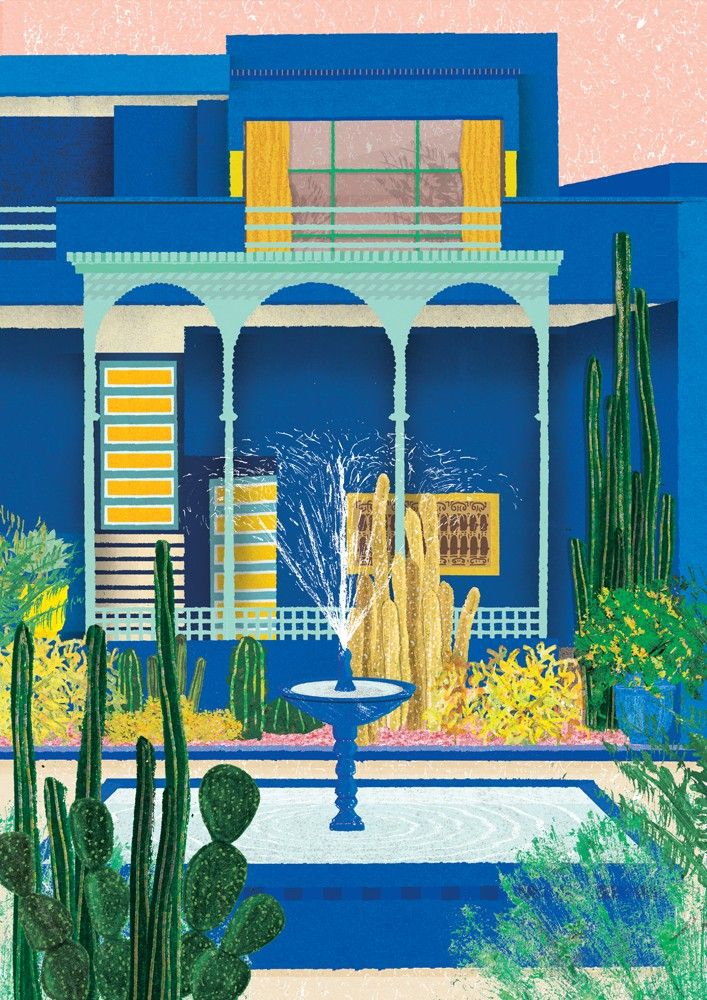 Daniel Clarke Majorelle Gardens Illustration Pictures To Draw