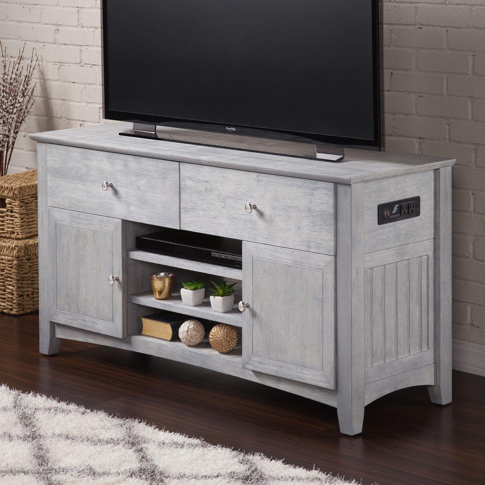 "Pinckney 50"" TV Stand Atlantic furniture, Solid wood tv"