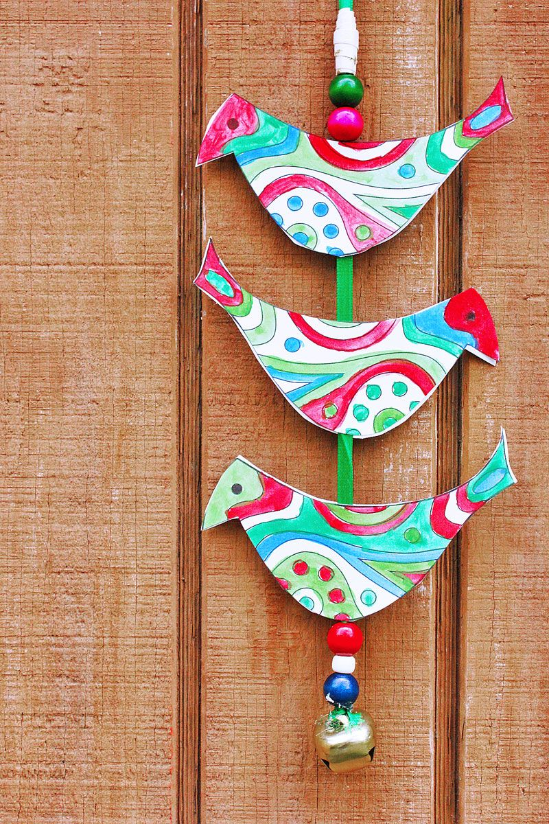 Superior Christmas Holiday Craft Ideas Part - 6: Christmas Craft Ideas: Make A Holiday Bell Tota For Your Front Door!  Printable Template